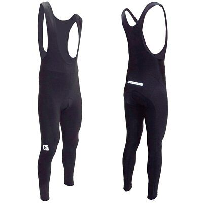VeloChampion Thermo Tech Cycling Bib Tights with Airflow pad - Black