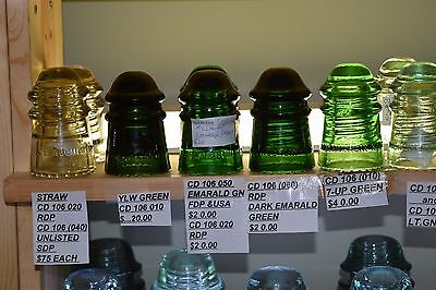 CD 106  COLLECTION McLAUGHLIN GLASS INSULATORS 40 TOTAL OVER 50% OFF BOOK
