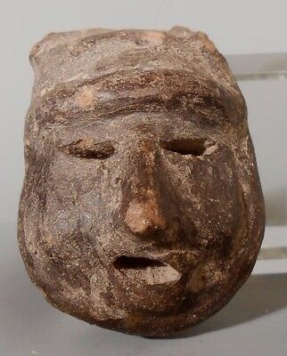Fine Mexico Mexican Olmec Olmecoid Pottery Head From a Statue ca. 800 BC