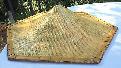 Vtg Conical Asian Bamboo Straw Chinese Japan Sun Rice Vietnam Hat Farmer Fishing