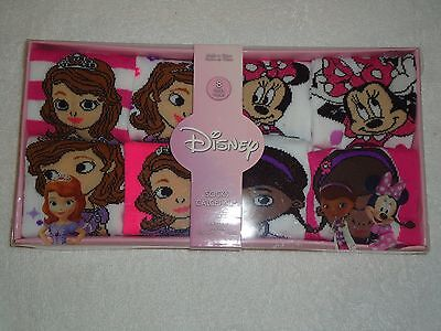 New Disney Socks 8 Pairs Size 6-8  Doc Mcstuffins Sofia The First Minnie Mouse