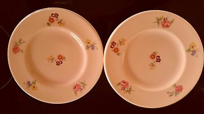 Mid Century Clarice Cliff England Retro Floral Six Pink Cake Plates