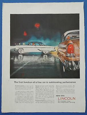 1955 Vintage Holiday Magazine Ad Lincoln Division Of Ford Motor Company