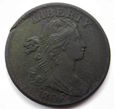 1806 Large Cent 1c Penny XF Tuff Find This Nice even Wear & Tone 358