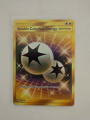 Double Colorless Energy Secret Rare Pokemon Card Guardians Rising 166/145 NM-M
