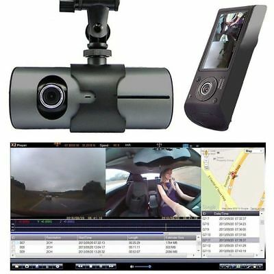Auto HD 2.7 '' Dual Lens Doppel Kamera Dashcam DVR Video Recorder GPS WALK