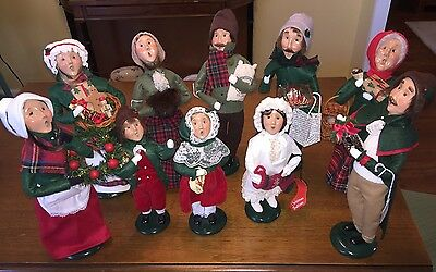 Lot 10 Byers Choice The Carolers 1997-2001 Excellent display condition