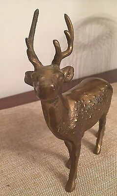 BRASS DEER with ANTLERS