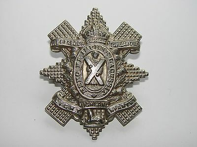 British WW2 Cap Badge The 1st Battalion The Glascow Highlanders, type #2 domed