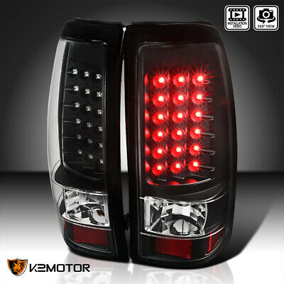 Black 2003-2006 Chevy Silverado 1500 2500 3500 LED Tail Lights Lamps Left+Right
