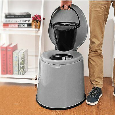 Portable Camp Toilet Flush Travel Camping Hiking Outdoor Indoor Potty Commode