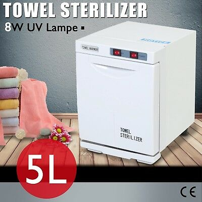 Towel Warmer UV Sterilizer Cabinet Salon Disinfection Heater Facial Beauty 5L