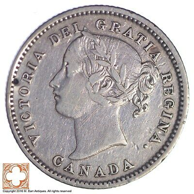 1858 Canada 10 Cents *XB87