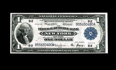 1918 $1 NEW YORK.NY Large Federal Reserve Note ~