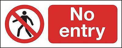 """Signs and Labels AMZML017USAV """"No Entry"""" Prohibition Safety Sign Self Adhesiv..."""