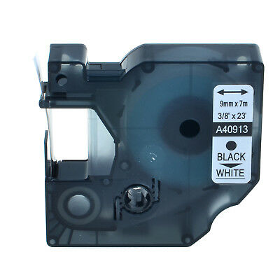 """1PK Black on White Label Tape for Brother DYMO D1 40913 LabelManager 350 3/8"""""""