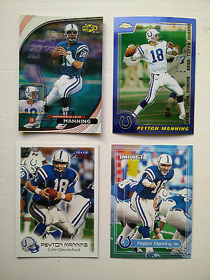 NFL Peyton Manning Indianapolis Colts MVP Lot of 4 Premium Cards