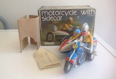 Vintage Tin Motorcycle With Sidecar MS 709