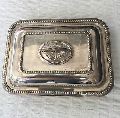 Antique Silver Plate Serving Tray and Lid