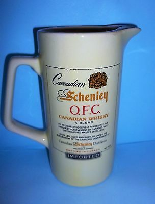 """Canadian Schenley OFC Canadian Whiskey  Pitcher 7"""" Tall"""