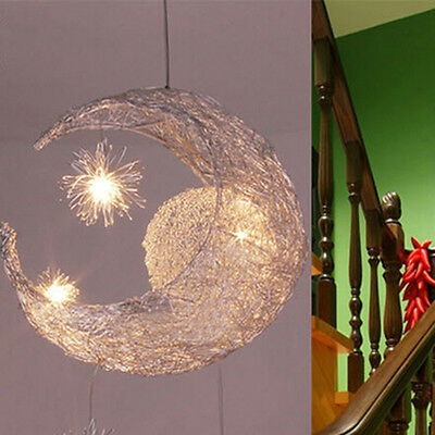 Moon Star Pendant Lamp LED Chandelier Ceiling Light Children Child Kid Bedroom