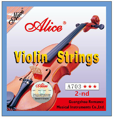 Alice A703 Violin A String for 4/4,3/4,1/2 Size Violins 2nd A String