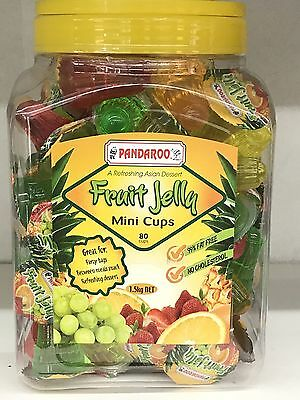Pandaroo FRUIT JELLY Mini Cups 1.5kg box 80 cups BB 16/04/2019