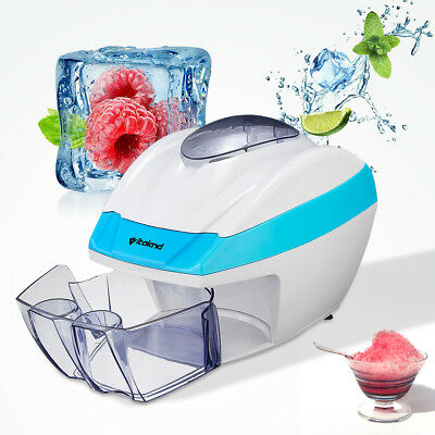Electric Automatic Ice Shaver Slicer Crusher Home Machine Cube Flake Shaved Snow