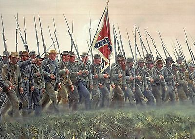 Pickett's Charge Gen. Armistead Battle of Gettysburg Military Civil War Postcard