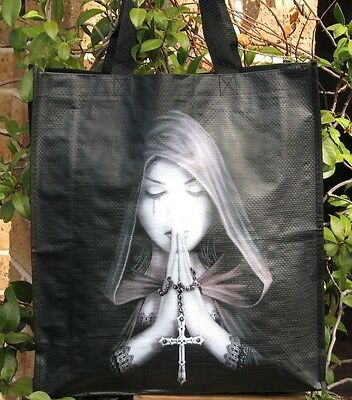 Anne Stokes Collection ~ Gothic Prayer Shopping Bag / Beach Bag