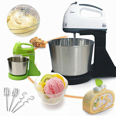 Electric 7 Speed Food Cake Dough Stand Mixer Beater whisk machine With Bowl