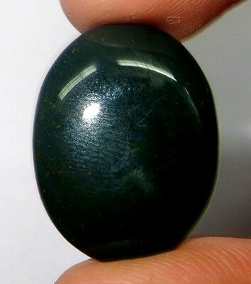 32Cts. Superb AAA Natural Green Color Bloodstone Oval Cabochon Gemstone 483