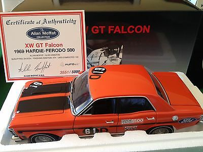 1:18 Allan Moffat First Bathurst XW GT Falcon Signed Certificate Free Postage