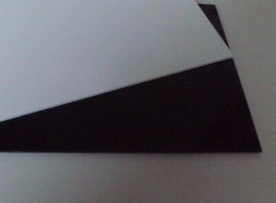 Cut Acrylic Gloss Black/white Perspex A6 - A3 Cast Acrylic Pieces Cut To Size