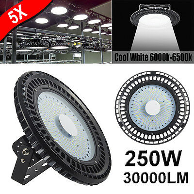 5X250W UFO LED High Bay Lights Warehouse Industrial Factory Light Lamp AU Stock