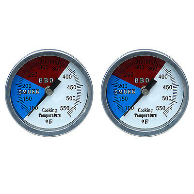 "Bbq Grill Smoker Pit Thermometer Ss Thermostat Pit Temp 1/2"" Npt  2-3'' 550F"