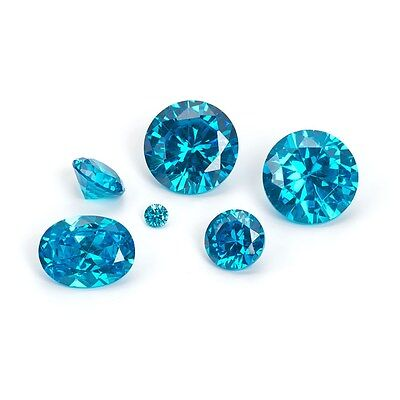 1 x 3mm BLUE TOPAZ LOOSE CUBIC ZIRCONIA AAAAA FAST & FREE DELIVERY - LIMITED