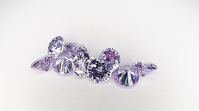 7mm LAVENDER LOOSE CUBIC ZIRCONIA AAAAA FAST & FREE DELIVERY - LIMITED