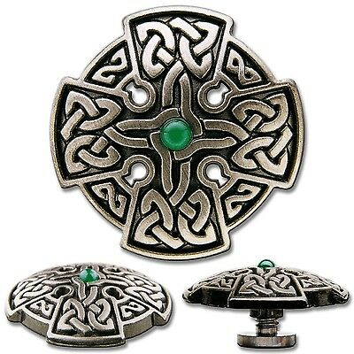 Celtic Cross No. 3 Screwback Concho Decorative Screw Back Rivet