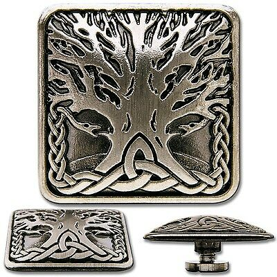 Celtic Tree of Life No. 3 Screwback Concho Decorative Screw Back Rivet