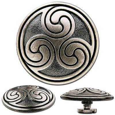 Celtic Triskel No. 2 Screwback Concho Decorative Screw Back Rivet