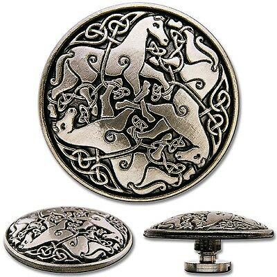 Celtic Horses Screwback Concho Decorative Screw Back Rivet