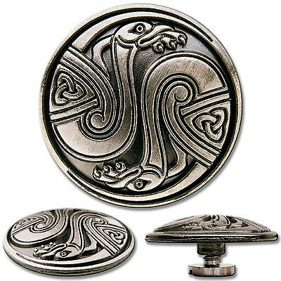 Celtic Screwback Concho Decorative Screw Back Rivet Celtic Birds No. 1