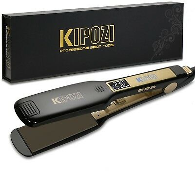 KIPOZI Professional Hair Straighteners Wide Plates Flat Iron With Digital LCD