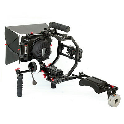 Camtree Shoulder Mount Rig Matte Box Camera Cage Top Handle Follow Focus w Crank