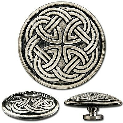 Celtic Screwback Concho Decorative Screw Back Rivet Celtic Knot No. 1