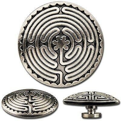 Celtic Labyrinth Screwback Concho Decorative Screw Bach Rivet 1