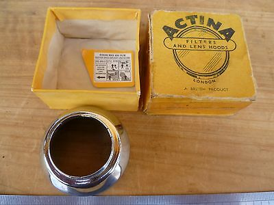 Vintage Old Lactina Brand Camera Hood, Lense Cover, Old Part In Box (D327)