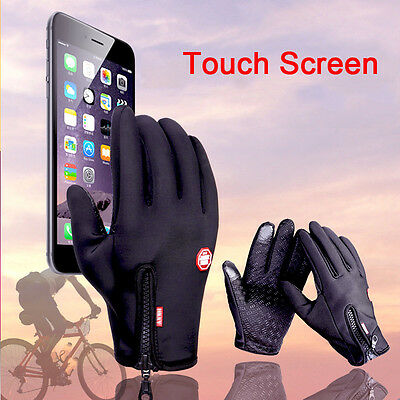 Full Finger Outdoor Skiing Bike Cycling Tactical Windproof Touch Screen Gloves