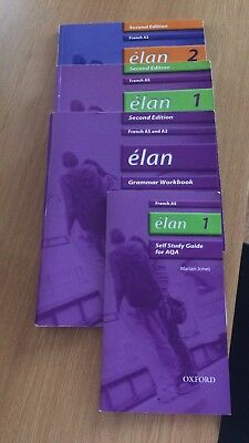 Élan French AS A2 Workbooks Grammar Book And Self Study Guide REQUIRED FOR AQA